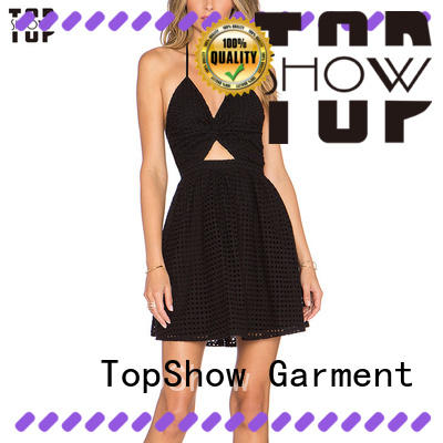 TopShow newly off the shoulder mini dress halter for ladies