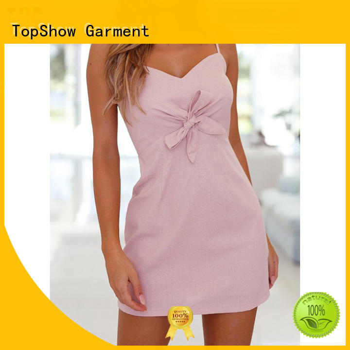 TopShow panels white strappy bodycon dress vendor factory price