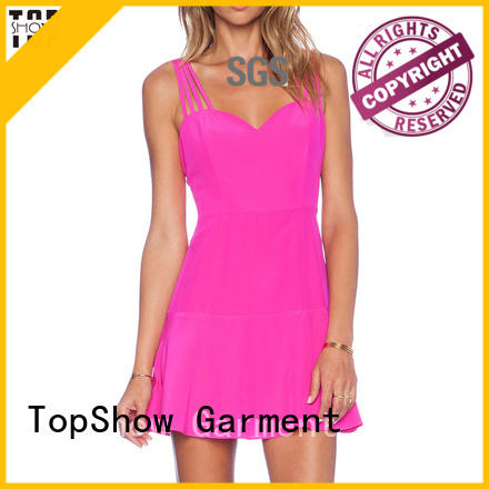 TopShow simple bodycon dress bulk production street wear