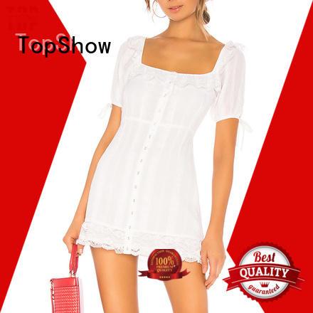 slit feminine dresses manufacturer for girls TopShow