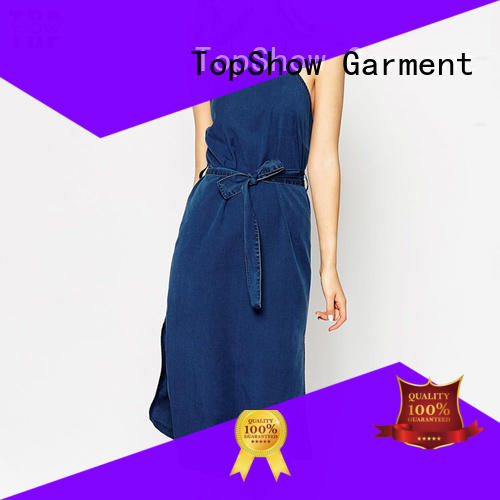 slit low back halter dress design with good price TopShow
