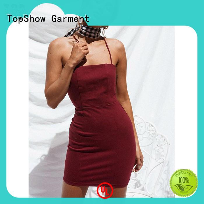 TopShow denim mini dress supplier for ladies