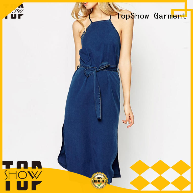 TopShow bodycon denim mini dress vendor for cosmetics