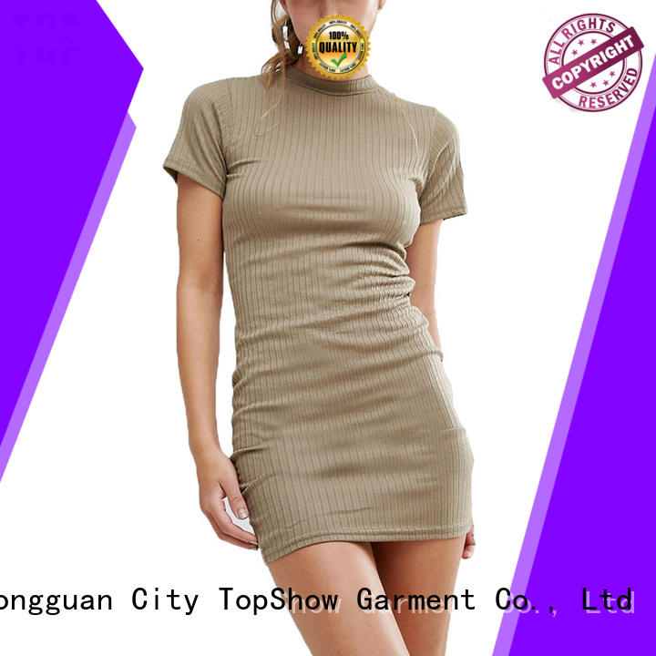 TopShow Sexy black and white mini dress at discount for shopping