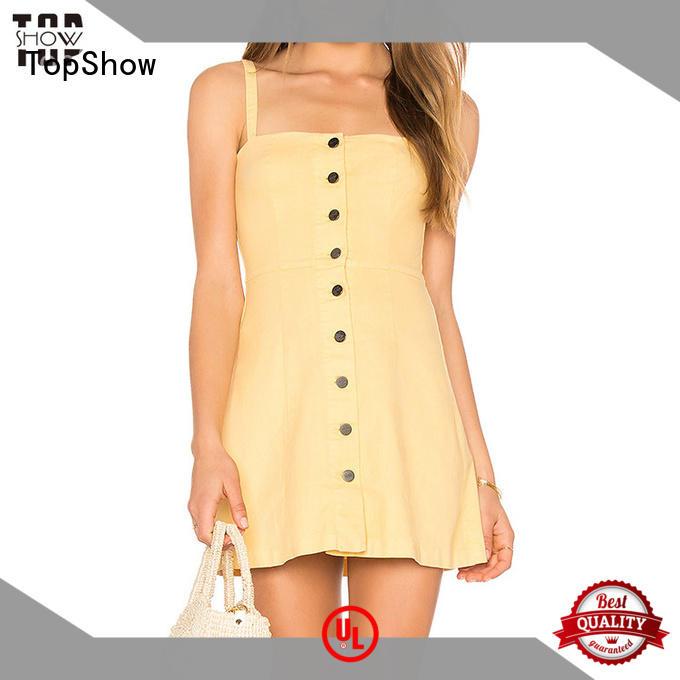 TopShow appealing open back halter dress white for female