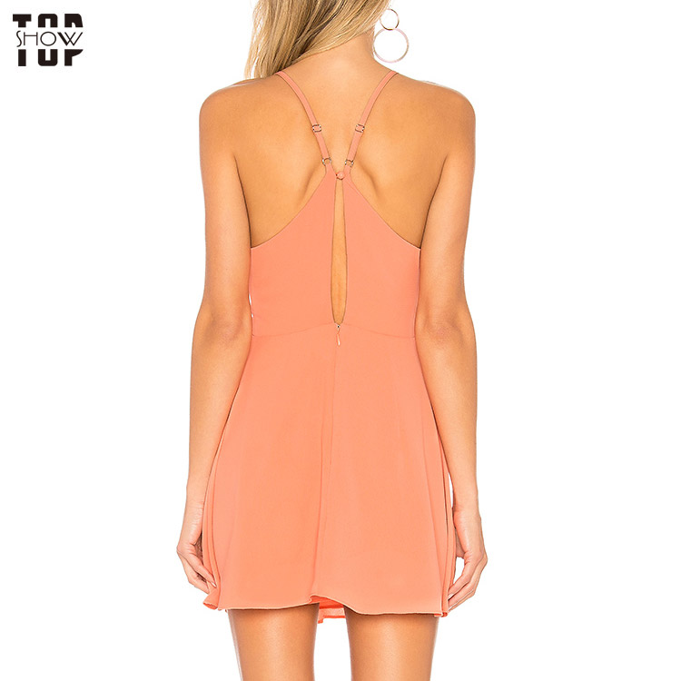 TopShow bodycon mini dress factory price for girls-3