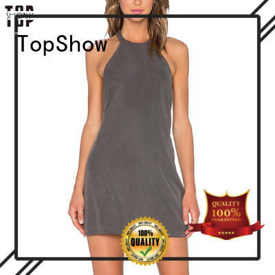 black and white mini dress panels for woman TopShow