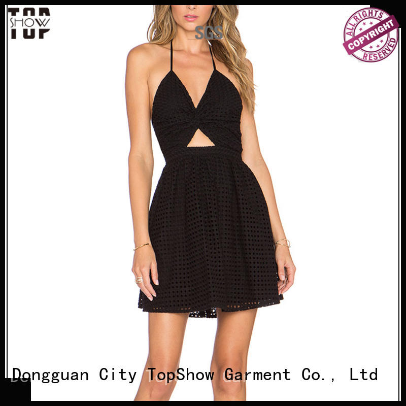 TopShow irresistible mini lace up dress stripe for woman