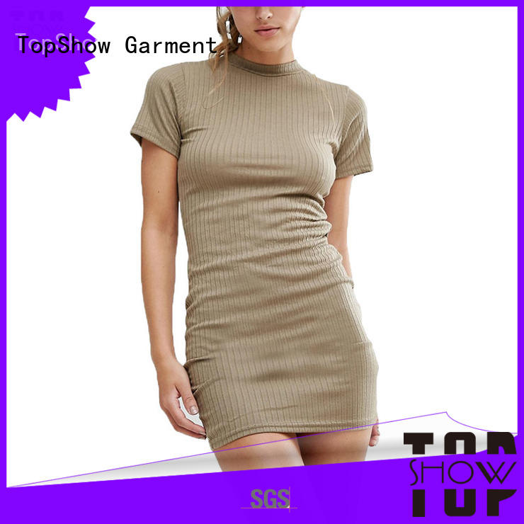 short dress fashion factory price for female TopShow