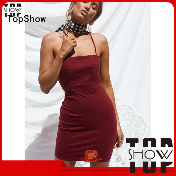products dark red mini dress vendor for shopping TopShow
