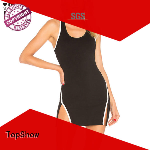 plain short strappy dress woman for party TopShow
