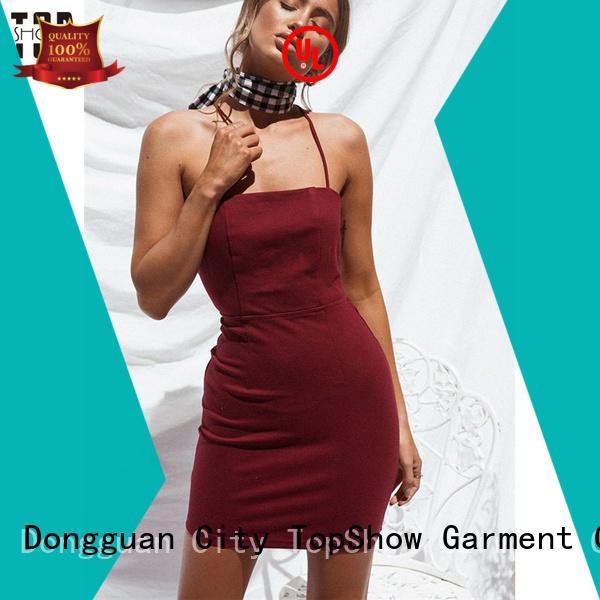 print red and black mini dress long street wear TopShow