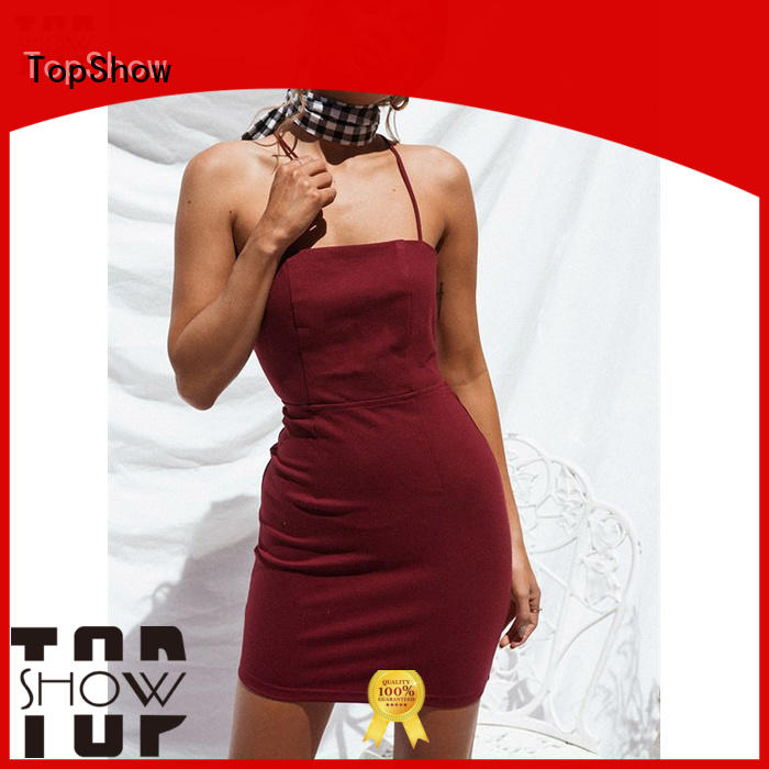 TopShow fine- quality fitted mini dress widely-use for woman