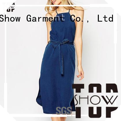TopShow Fashion backless halter dress free design for girls