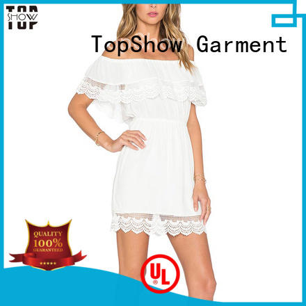 TopShow fine- quality black and white mini dress front