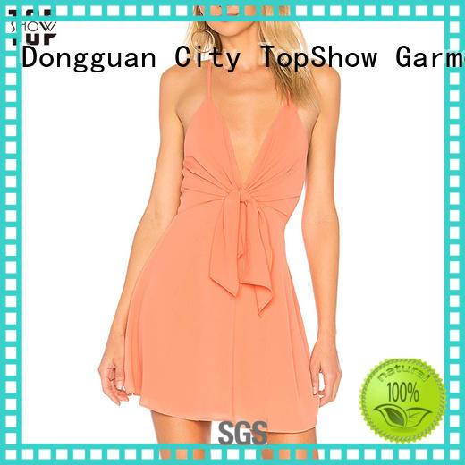 denim mini dress ruffle factory price TopShow