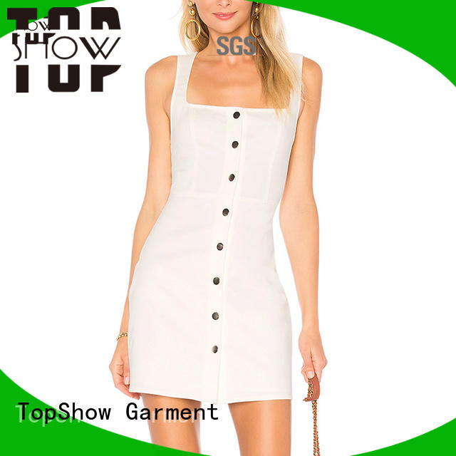 TopShow Summer short strappy dress from China