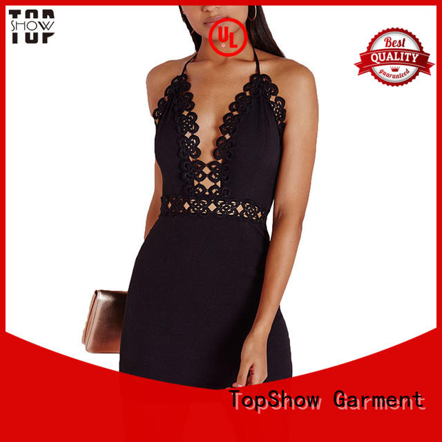 playsuit lace mini dress denim for female TopShow