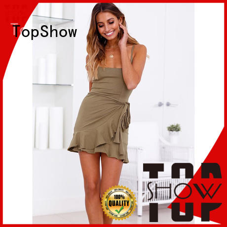 TopShow backless halter dress supply party wear