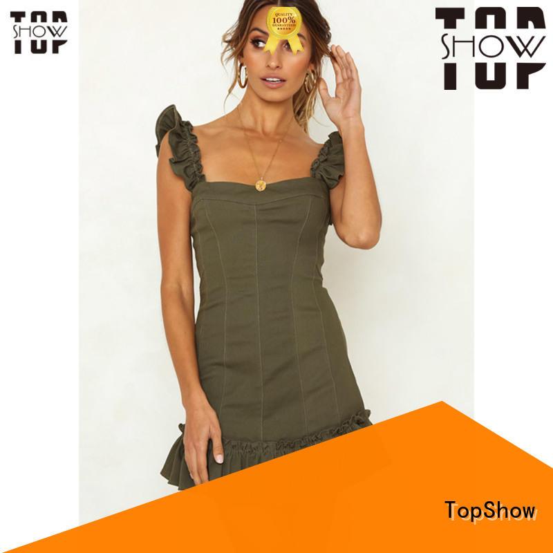 TopShow mini dress clubwear factory price street wear