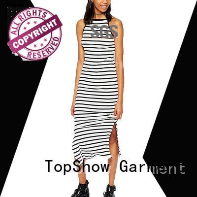 open back halter dress contrasting TopShow