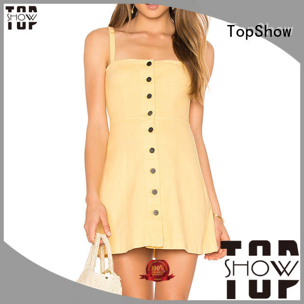 TopShow perfectly matching open back halter dress manufacturer for shopping