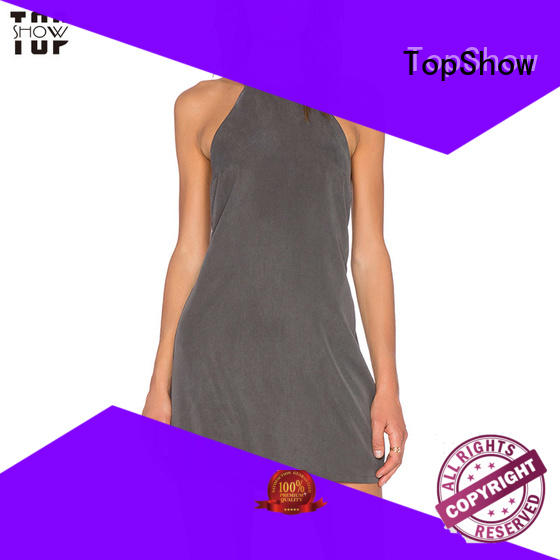 TopShow simple short sleeve dress free design for cosmetics
