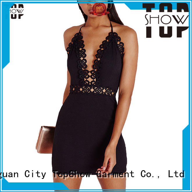 long open back halter dress knot for party TopShow