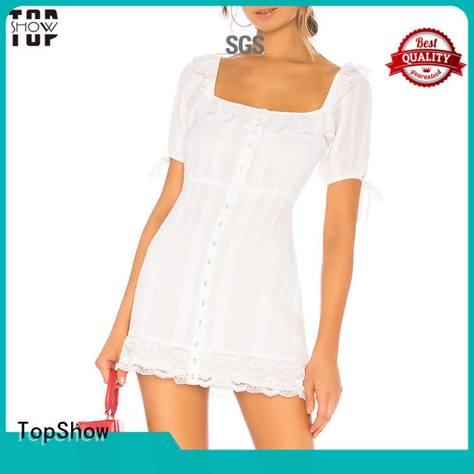 TopShow perfectly matching black and white short dresses factory for cosmetics