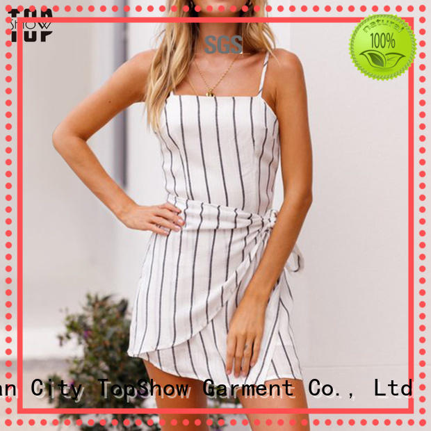 TopShow attractive short strappy dress factory price for female