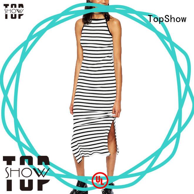 TopShow stunning v neck mini dress for shopping