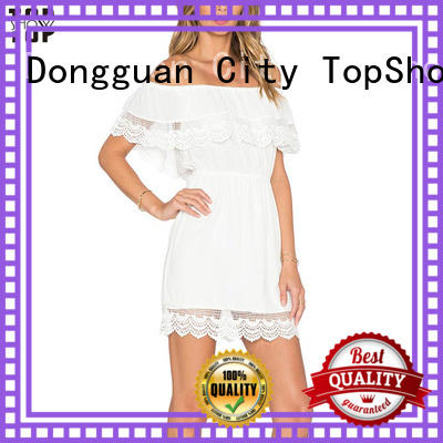 TopShow Summer lace mini dress manufacturer for business trip