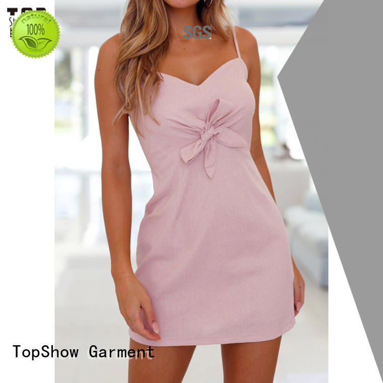 Oem quality fitted mini dress free design for female