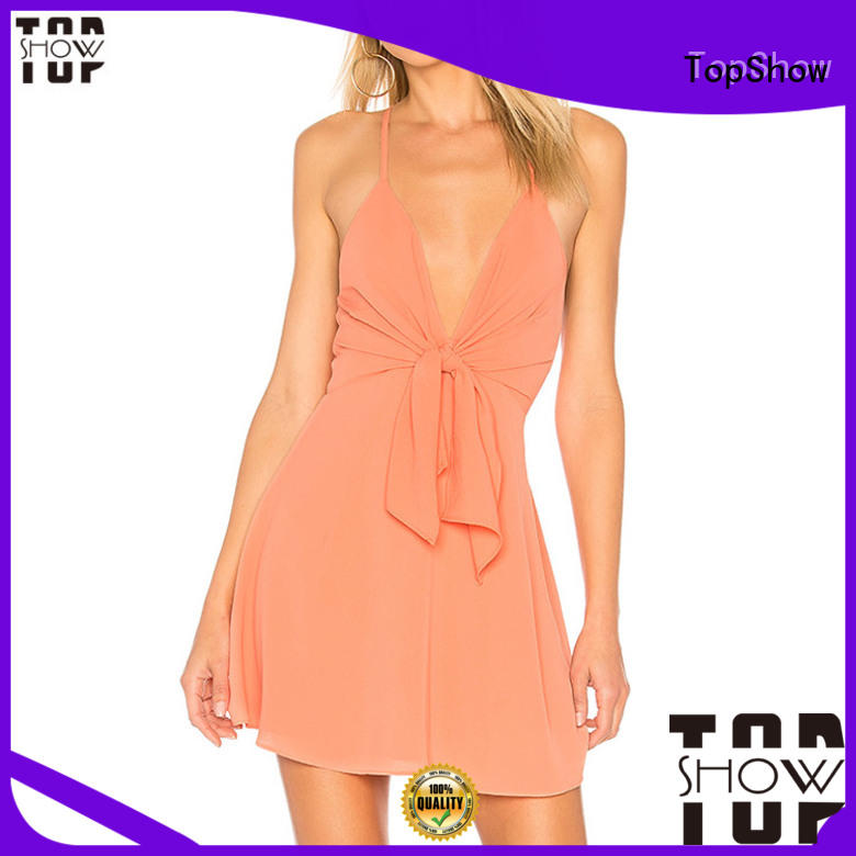irresistible halter mini dress supplier for business trip
