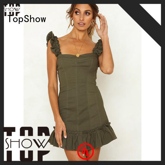 TopShow mini lace up dress manufacturers factory price