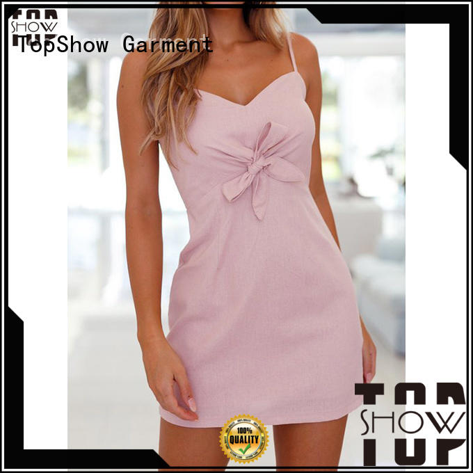 TopShow charming pink and red dress free design for ladies