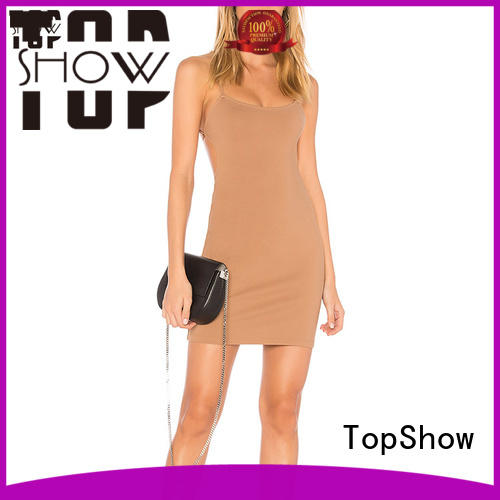 TopShow Oem quality mini lace up dress bulk production party wear