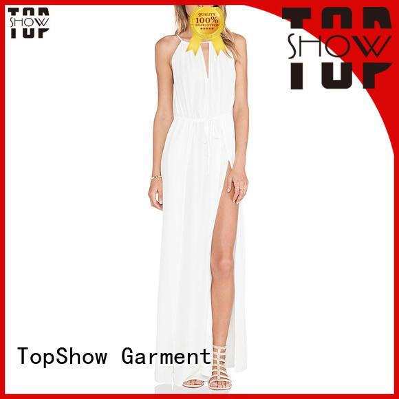 TopShow appealing v neck mini dress bulk production for shopping