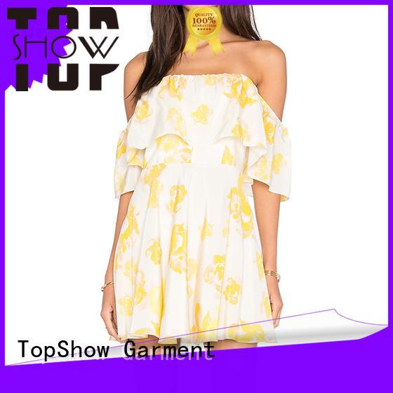 dress manufacturers stripe denim TopShow Brand dress customization