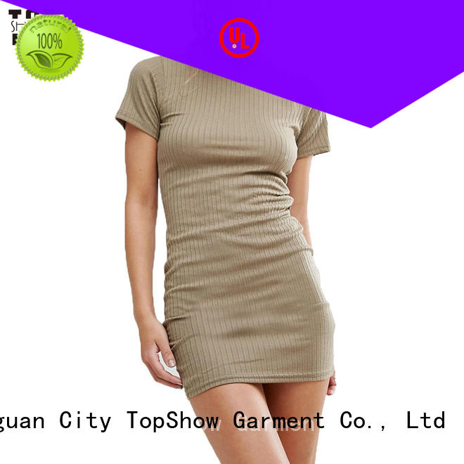 TopShow newly pink midi bodycon dress sun for ladies