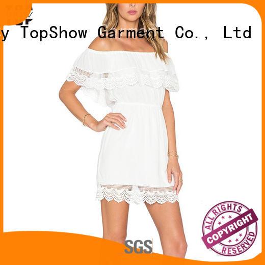 denim lace mini dress print for girls TopShow