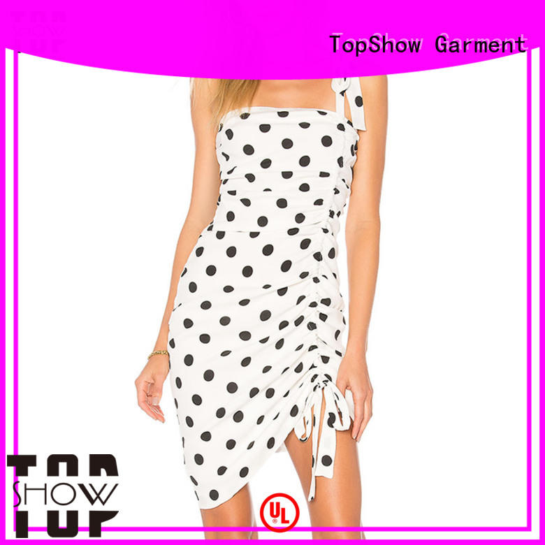 TopShow black and white short dresses for cosmetics