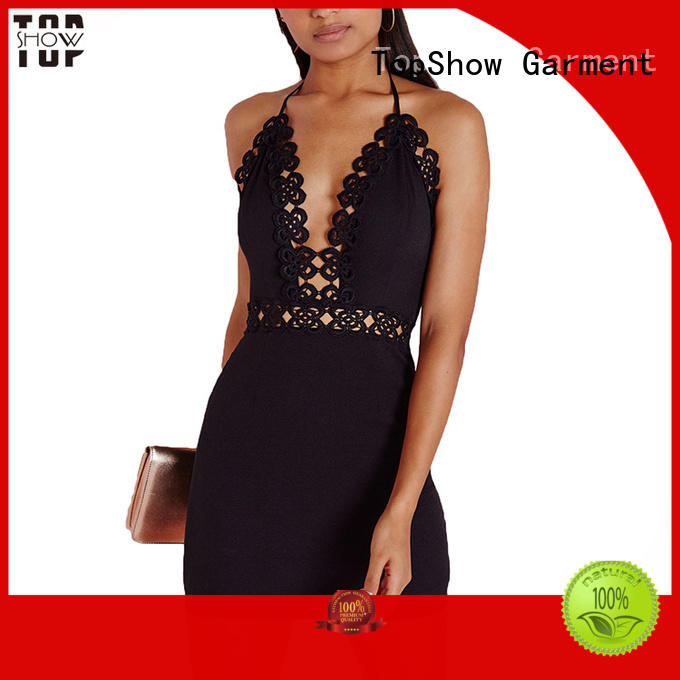 splits dark red mini dress lace TopShow