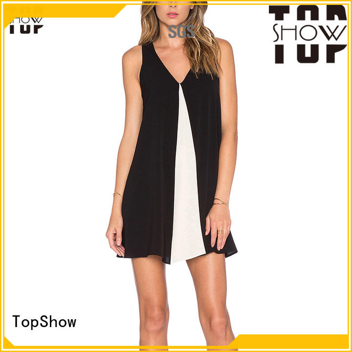 TopShow fine- quality red and white dress for woman