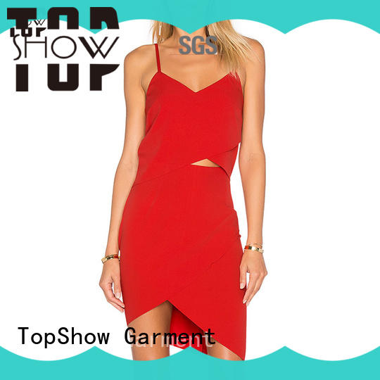 TopShow special red and white dress at discount for cosmetics