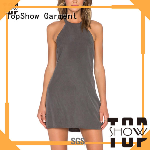 TopShow summer mini dress free design daily wear