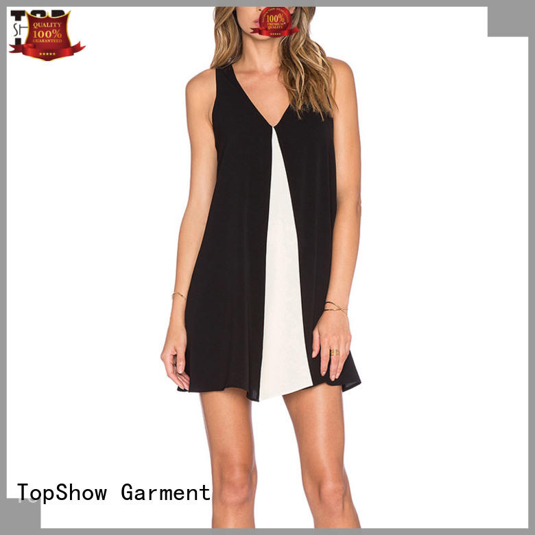 white and black short dress women for business trip TopShow