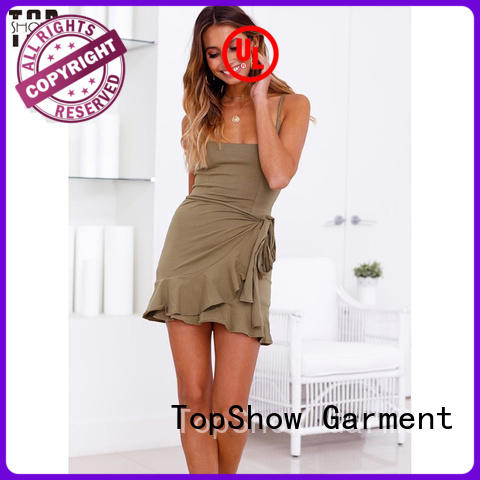 TopShow yellow custom made dresses cheap for ladies