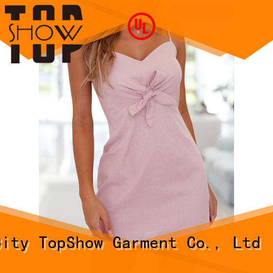 TopShow gorgeous v neck mini dress supplier with many colors