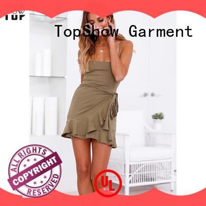 TopShow fine- quality low back halter dress neckline street wear
